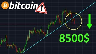 BITCOIN 8500$ SUPPORT CASSÉ !? btc analyse technique crypto monnaie