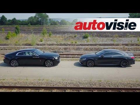 Autovisie TV: Rolls-Royce Wraith Black Badge versus Mercedes-AMG S 63 Coupé Brabus