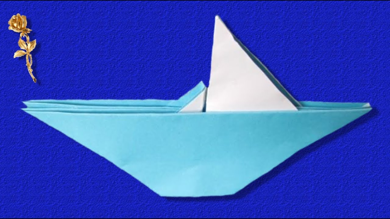 Origami Bateau Voilier Youtube