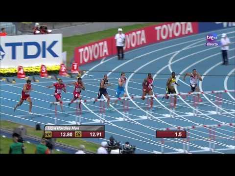 Final 110m. Vallas Masculino. Atletismo Cto. Del Mundo Moscú 2013.