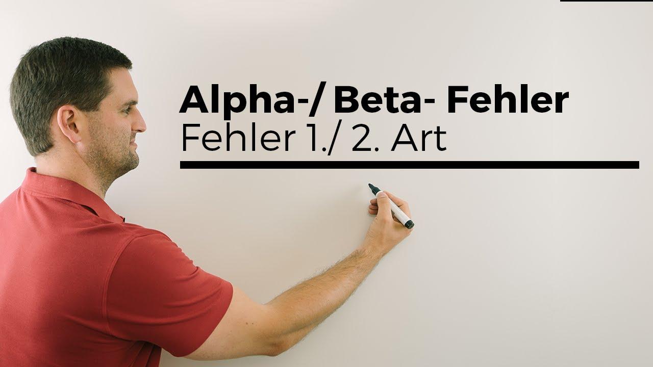 alpha beta fehler fehler 1 2 art testen stochastik mathe by daniel jung youtube. Black Bedroom Furniture Sets. Home Design Ideas