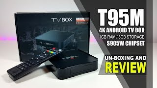 t95m Android TV Box Unboxing