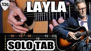 Como tocar el solo de LAYLA (Eric Clapton) en guitarra acústica   Tablaturas TCDG