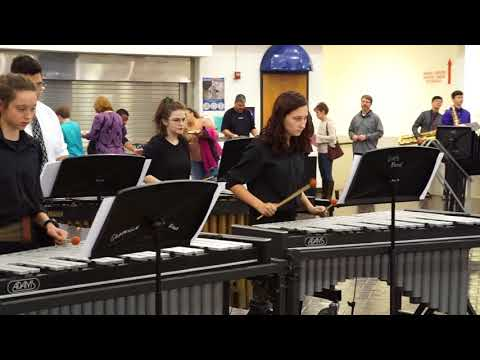 """GHS Band Percussion Ensemble """"Spring from the Four Seasons"""" 02/13/18"""