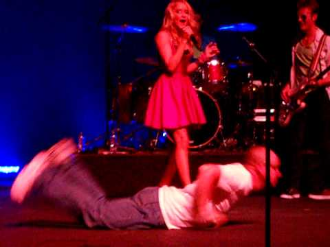 Emily Osment dancing with Dad#1, Jesse Thom, who d...