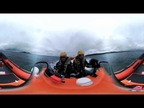 On board an Irish Coast Guard Boat - 360 degree video