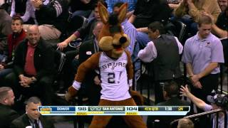 Spurs' Mascot 'The Coyote' Loses His Eyes