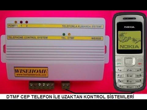 Cep Telefonu İle 8 Adet Röle Uzaktan Kontrol Dtmf