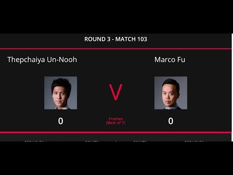 Marco Fu vs Thepchaiya Un Nooh Scottish Open 2019 Live Stream