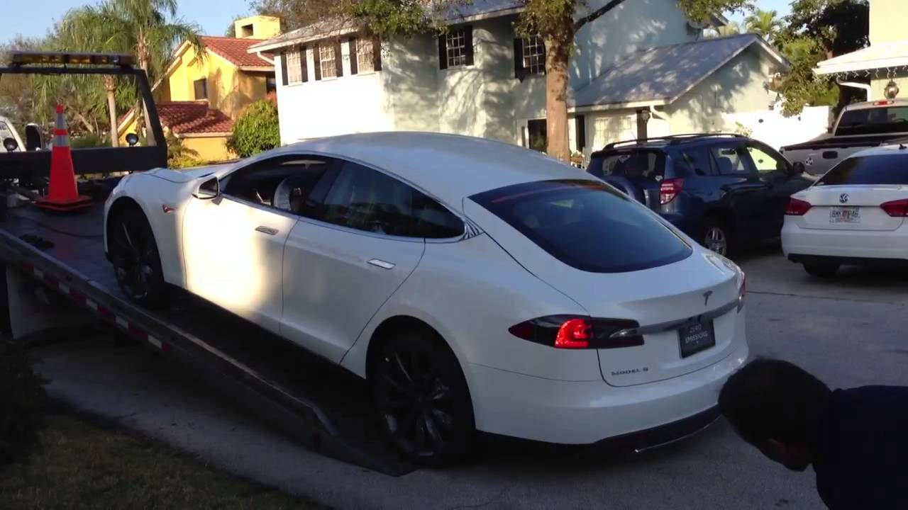 6 Door Truck >> Tesla Model S Delivery - YouTube