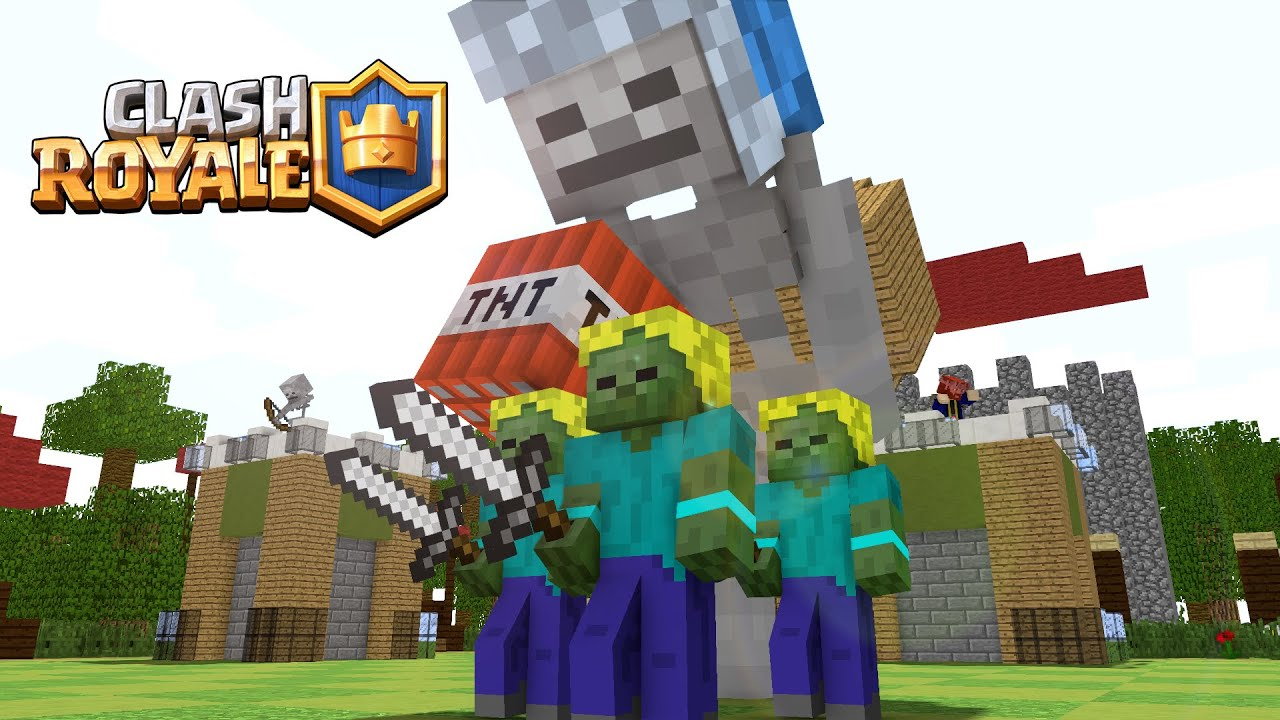 If Minecraft Would Be Like Clash Royale Minecraft Animation - Minecraft spielen youtube