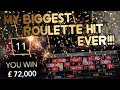 My biggest Record Roulette Hit - Ever! This was Crazy! 💷 Jackpot Roulette Livestream