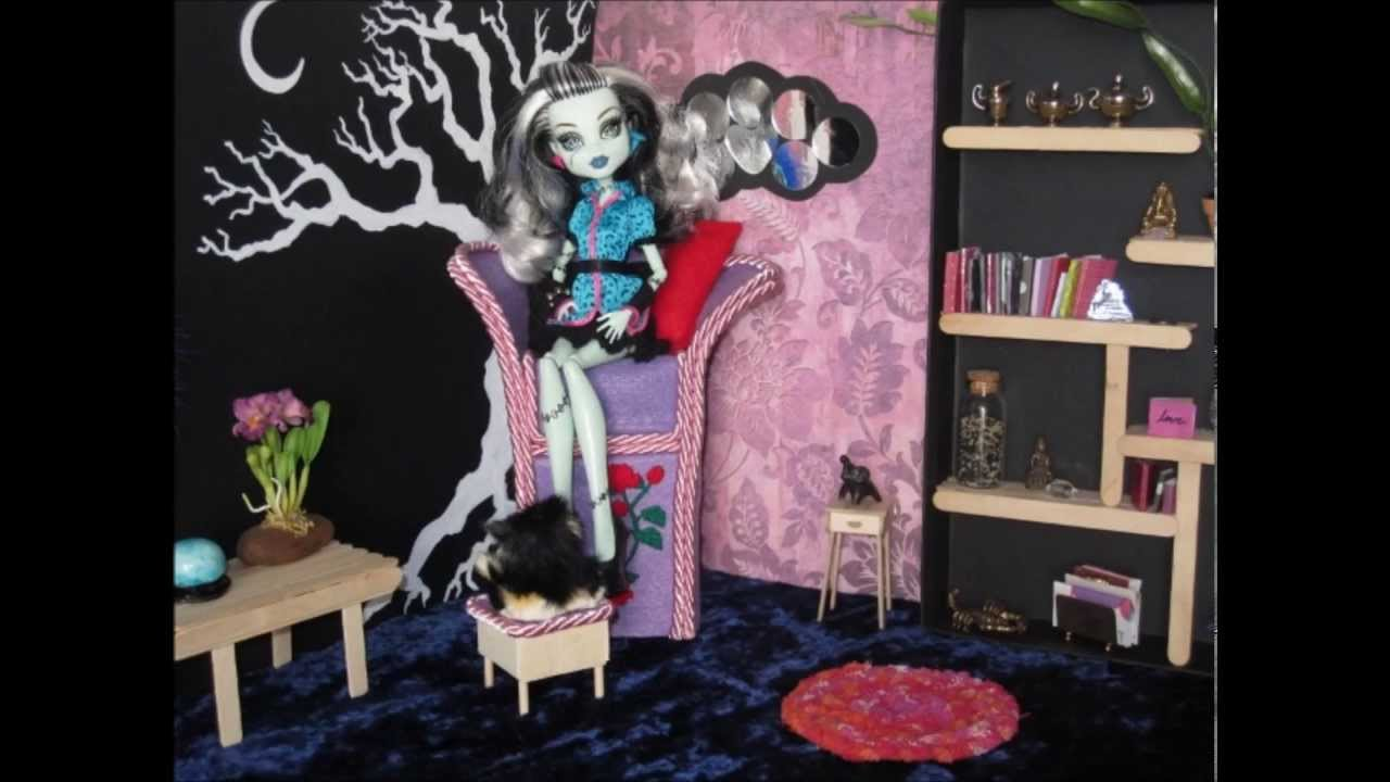 Monster High Doll House Furniture Purple Rose Chair Youtube