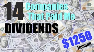 February 2020 Dividend Income | Averaging $1000/Month in Dividends | Dividends, Investing