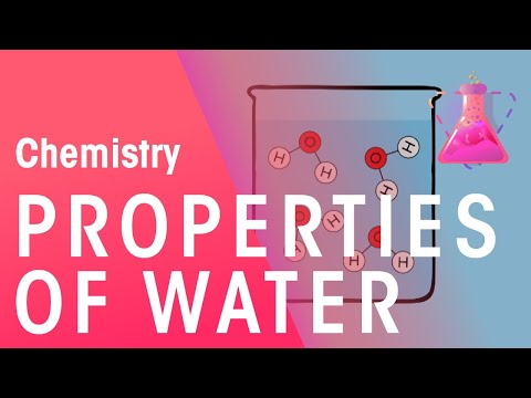 Properties of water | Chemistry for All | The Fuse School