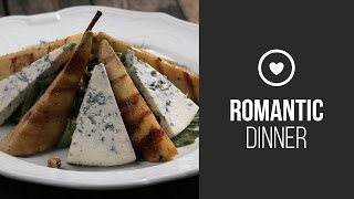 Salad With Grilled Pear, Blue Cheese And Walnuts  Around the World: Romantic Dinner  Gastrolab
