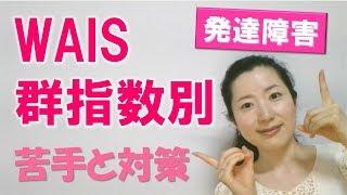 【発達障害】知能検査(WAIS)の群指数の意味、苦手と対策