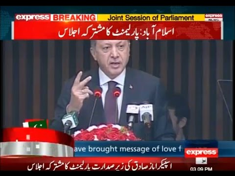 We Can Never Forget Pakistan's Support, Turk President to Pakistan's Parliament