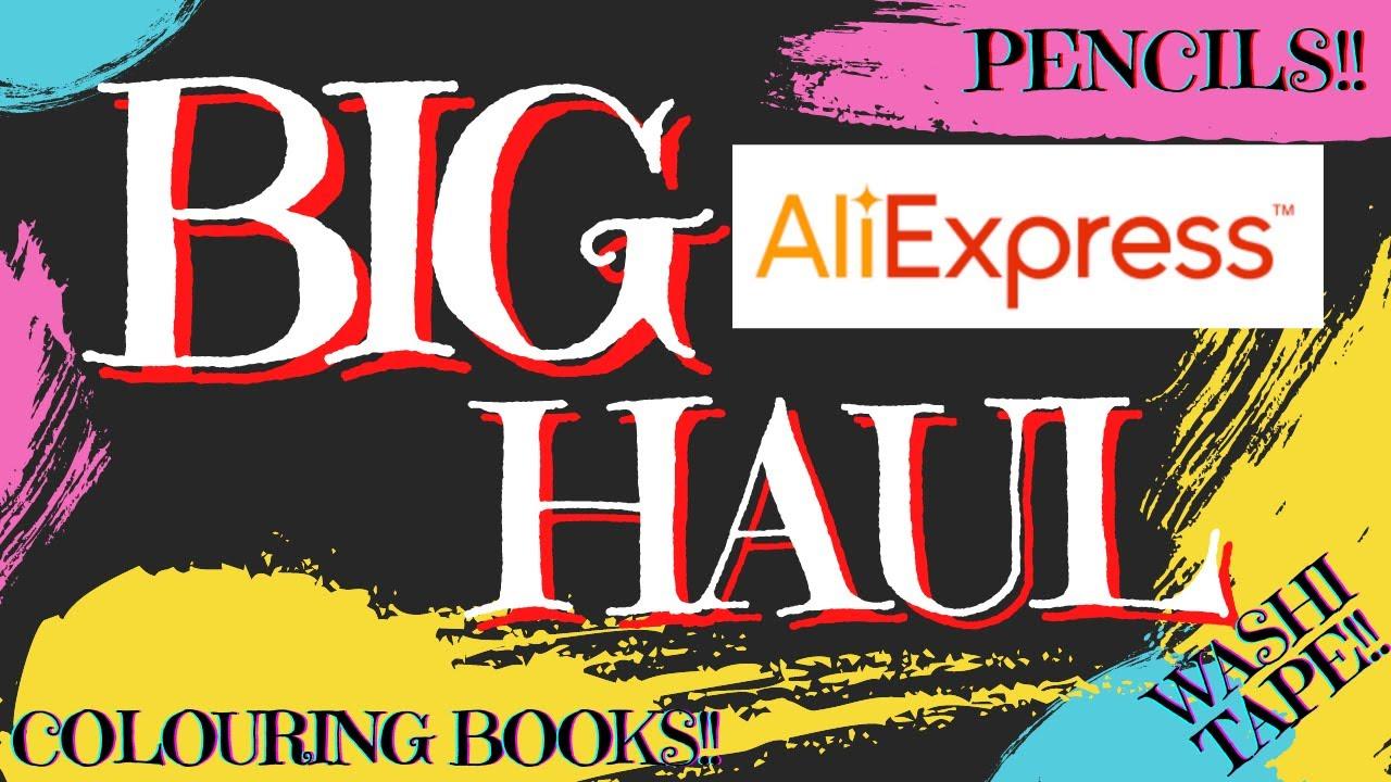 MY BIG ALIEXPRESS HAUL! | Adult Colouring Books, New Pencils, Washi Tape & Stationery