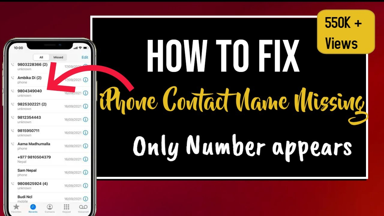 iphone contacts missing fix iphone contacts missing only numbers appears no 11771