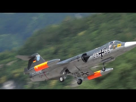 German Marine Starfighter F-104 Scale RC Turbine Model Jet Takeoff close-up view