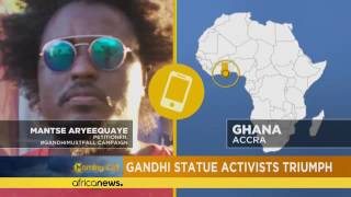 Ghana: la statue de Gandhi sera enlevée