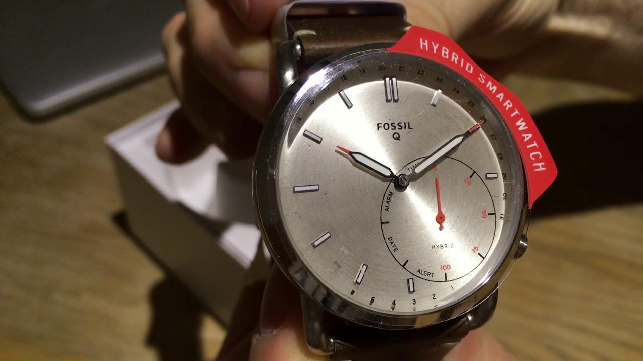 Fossil Q Commuter Hybrid Smartwatch Unboxing Youtube
