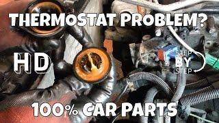 How to Change Replace thermostat Peugeot 206 - HD STEP BY STEP - DIY - DO IT YOURSELF(At 100% CAR PARTS we upload video that help you do it yourself and save some money in the process! play responsibly 18+ ..., 2015-03-06T20:12:31.000Z)