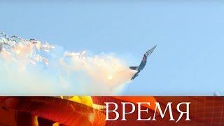 Грандиозное воздушное шоу подарили летчики посетителям форума «Армия-2018».