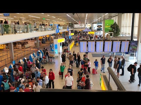 Amsterdam Airport Schiphol Public Area Tour | May 2018 HD