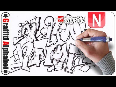 Graffiti Alphabet Buchstabe N Letra N Letter N