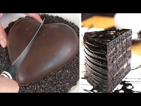 12 Quick And Easy Chocolate Cake Decorating Tutorials At Home | Best Chocolate Cake Compilation