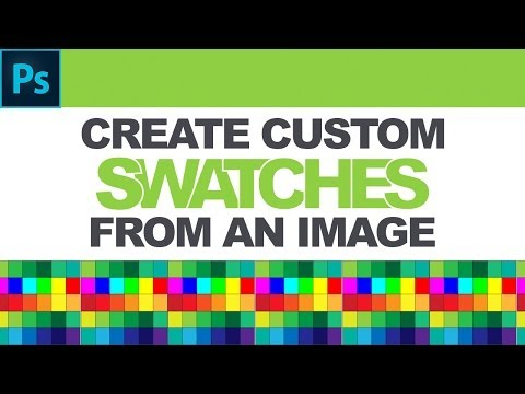 Photoshop Tutorial: How To Create Custom Color Swatches From An Image.