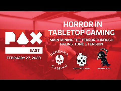 Botch Tour 2020 | Horror In Tabletop Gaming Panel | PAX East [Boston, MA]