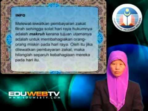 Eduwebtv Pendidikan Islam Tingkatan 3 Zakat Fitrah Youtube