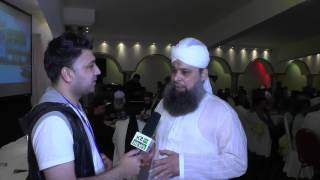 owais raza qadri interview during nmjm fund raising manchester k2tv syed kashif sajjad