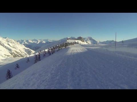 Saas-Fee: Mit Vollgas über Eis und Schnee - per Bike