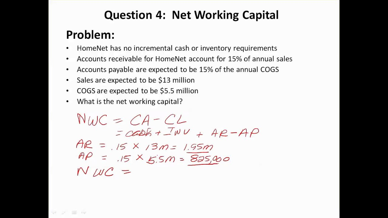 Calculating Net Working Capital - YouTube