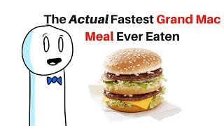 The ACTUAL FASTEST Grand Mac Meal Ever Eaten (under 10 seconds)