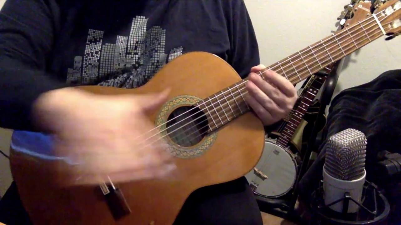 Sikken voldsom trængsel og alarm - Guitar lektion - lær melodi og fingerspil og akkorder