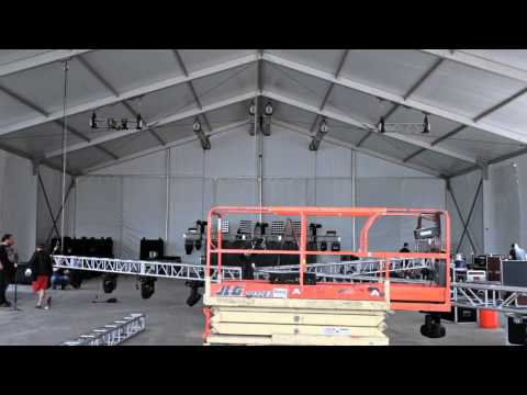 Behind the Scenes: Concert Venue Setup Timelapse Video