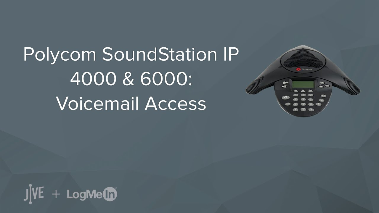 Polycom SoundStation IP 4000/6000: Voicemail Access - YouTube