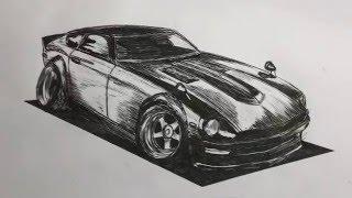 Speed Drawing: Datsun 240Z