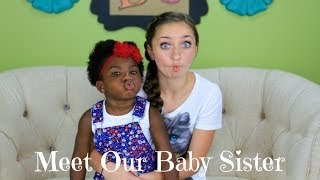 Meet Our Baby Sister | Brooklyn and Bailey