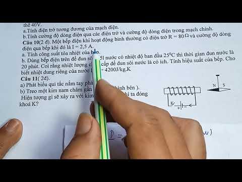 vật lý 9 đề thi học kì 1 môn vật lý 9   chuẩn ôn thi 2020