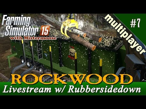 Farming Simulator 15 Live! - Multiplayer Forestry With RubberSideDown