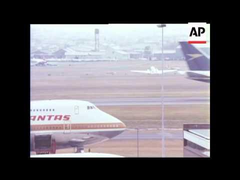 BOAC INAUGURAL JUMBO JET FLIGHT TO AUSTRALIA - IN COLOUR - COLOUR IS VERY GOOD