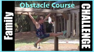 Family Obstacle Course Challenge | A Walk In The Park | Flippin