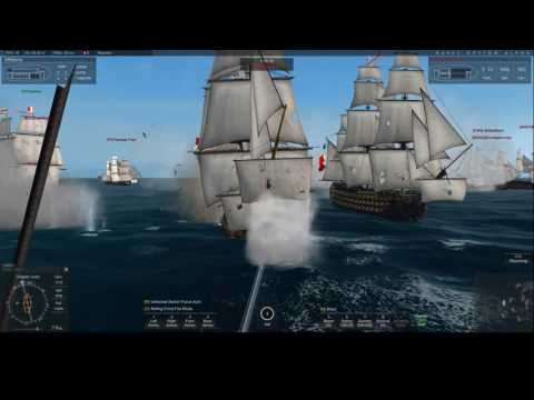 Naval Action PB Fleet vs Screening fleet at Castries 29.01.2017 French