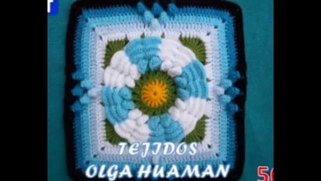 muestras tejidas a crochet para colchas de cama, gratis - YouTube